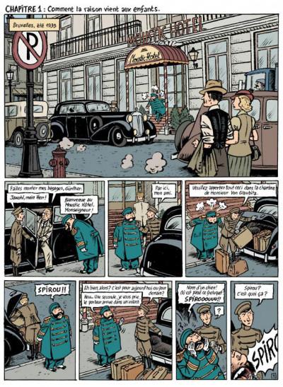 Page 1 spirou et fantasio  tome 4 - le journal d'un ingénu