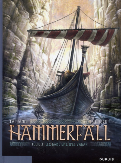 Couverture hammerfall tome 3 - les gardiens d'elivagar