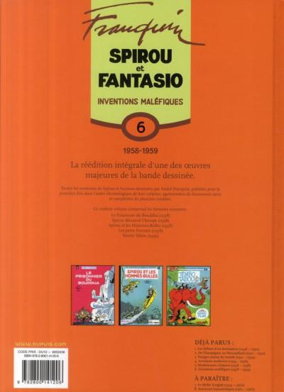 Dos spirou et fantasio - intégrale tome 6 - inventions maléfiques