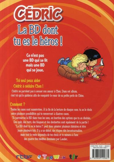 Dos cédric ; la bd dont tu es le héros !