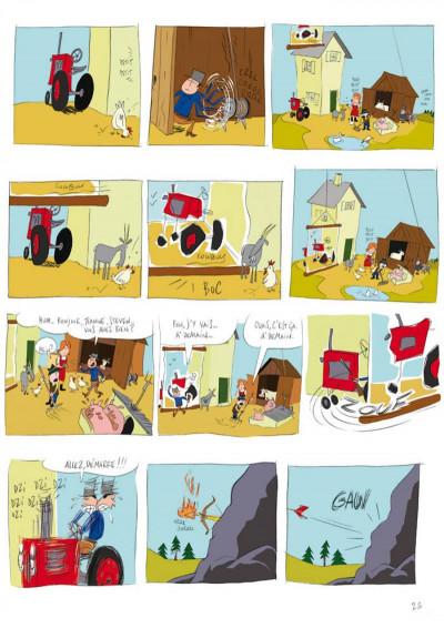 Page 2 panique au village tome 1 - le vol du tracteur