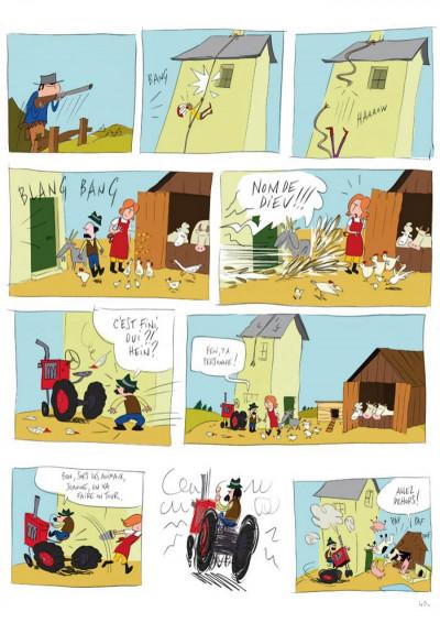 Page 4 panique au village tome 1 - le vol du tracteur