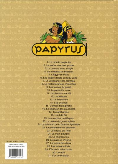 Dos papyrus tome 31 - l'or de pharaon