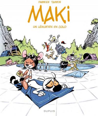 Couverture maki tome 1 - un lémurien en colo