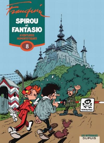 Couverture spirou et fantasio - intégrale tome 8 - aventures humoristiques
