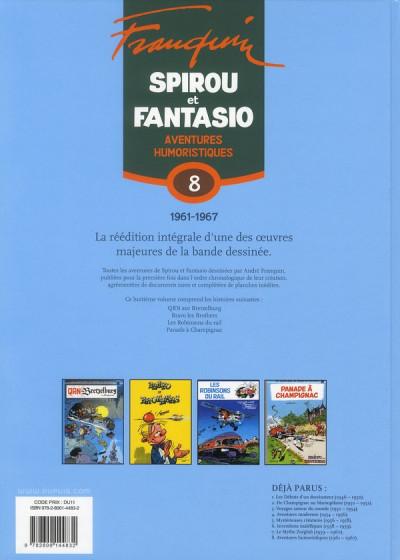Dos spirou et fantasio - intégrale tome 8 - aventures humoristiques