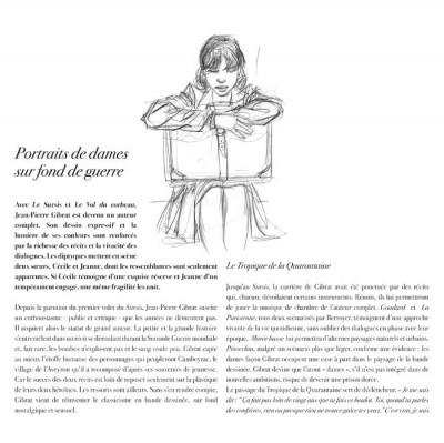 Page 1 jeanne & Cécile ; artbook Gibrat