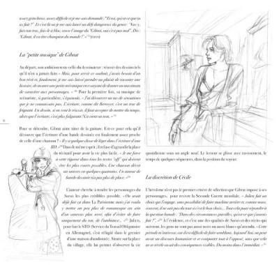 Page 2 jeanne & Cécile ; artbook Gibrat