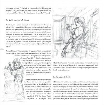 Page 6 jeanne & Cécile ; artbook Gibrat