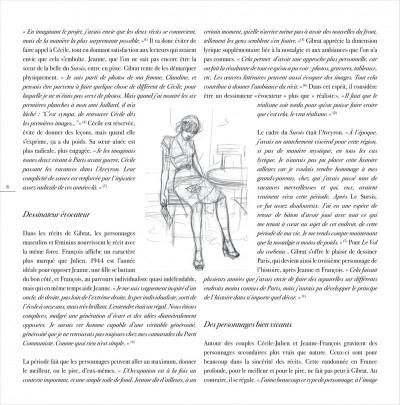 Page 8 jeanne & Cécile ; artbook Gibrat