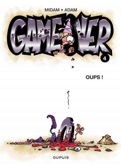 Couverture game over tome 4 - oups !