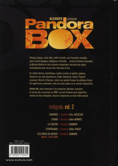 Dos pandora box - intégrale tome 2 - tome 5 à tome 8