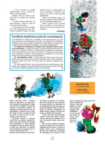 Page 6 gaston tome 7 - des gaffes et des dégâts