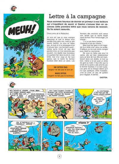 Page 8 gaston tome 7 - des gaffes et des dégâts