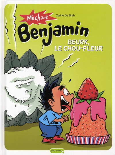 image de mechant Benjamin ; beurk, le chou fleur !