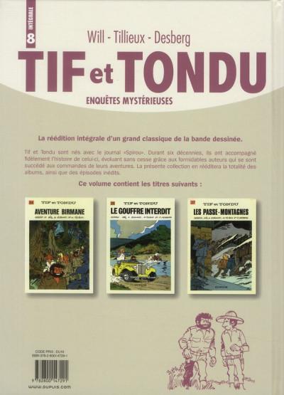 Dos Tif et Tondu ; INTEGRALE VOL.8 ; enquêtes mystérieuses