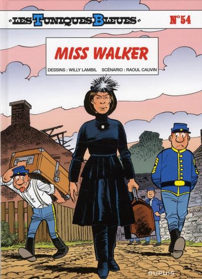 Couverture les tuniques bleues tome 54 - miss Walker