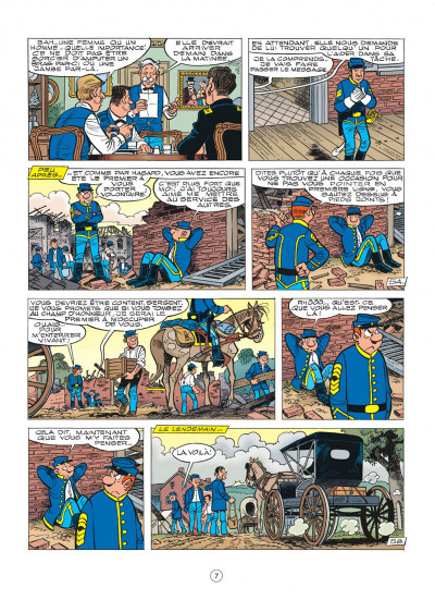 Page 7 les tuniques bleues tome 54 - miss Walker