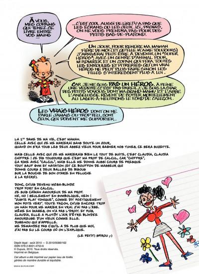 Page 2 le petit Spirou présente tome 3 ; ma prof de calcul