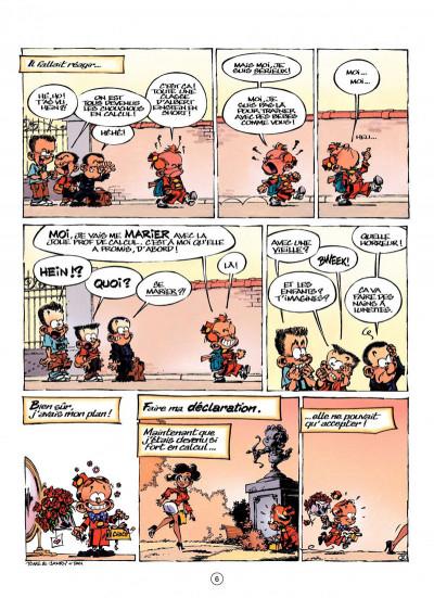 Page 6 le petit Spirou présente tome 3 ; ma prof de calcul