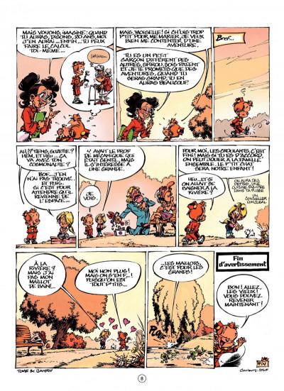 Page 8 le petit Spirou présente tome 3 ; ma prof de calcul