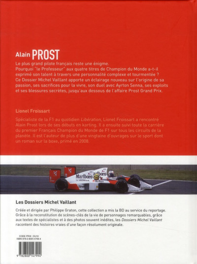 Dos Dossiers Michel Vaillant tome 12 - Alain Prost