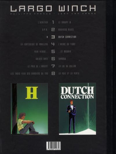Dos Largo Winch - diptyque tome 3 édition Le Soir