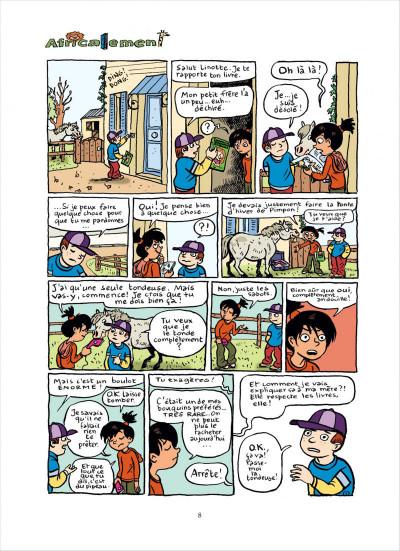 Page 8 top Linotte tome 2 - trop pimpon !