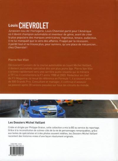 Dos Dossiers Michel Vaillant tome 11 - Louis Chevrolet