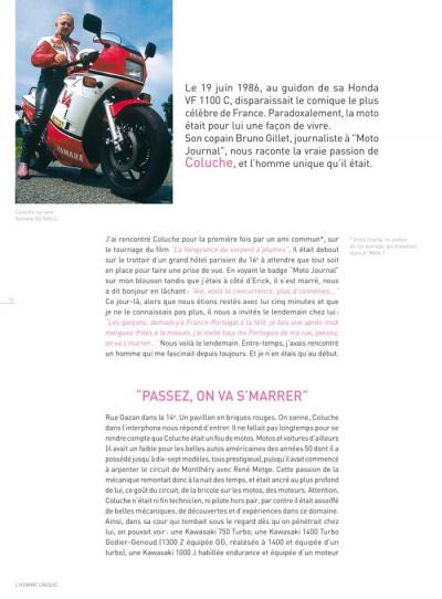 Page 2 Dossiers Michel Vaillant tome 5 - Coluche, c'est l'exploit d'un mec...