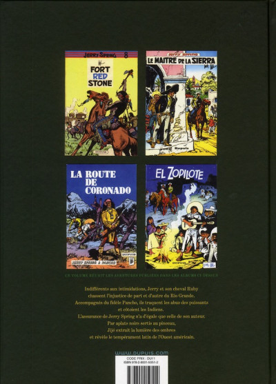 Dos Jerry Spring - intégrale tome 3 (1958-1962)