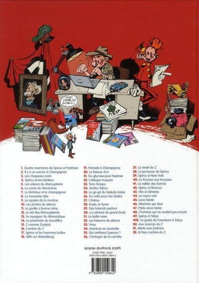 Dos les aventures de Spirou et Fantasio T.52 - la face cachée du Z