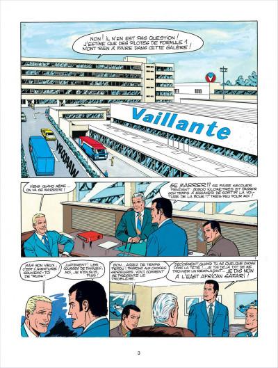 Page 3 Michel Vaillant tome 27 - dans l'enfer du safari