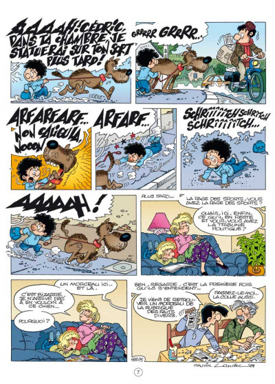Page 5 Cédric - best of tome 4 - feu aux trousses!