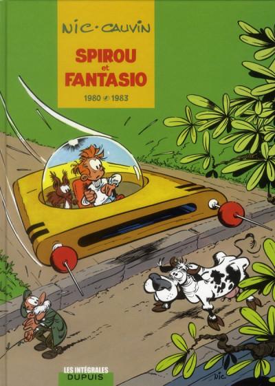 Couverture Spirou et Fantasio - intégrale tome 12 - 1980-1983
