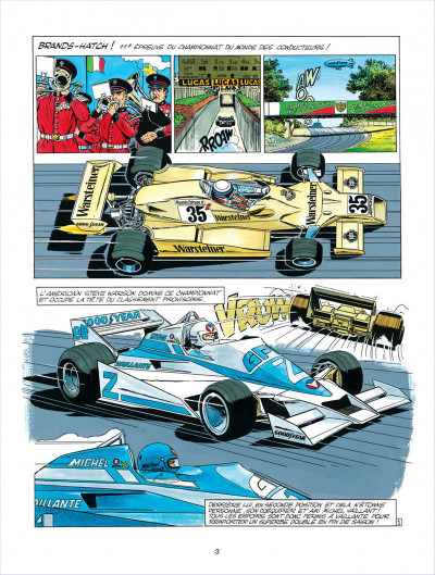 Page 3 Michel Vaillant tome 34 - K.O. pour Steve Warson