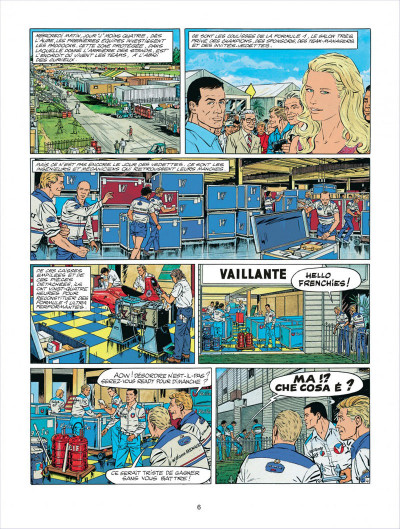 Page 6 Michel Vaillant tome 58 - paddock
