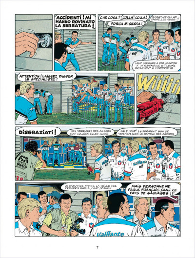 Page 7 Michel Vaillant tome 58 - paddock