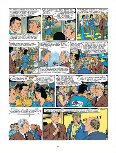 Page 9 Michel Vaillant tome 58 - paddock