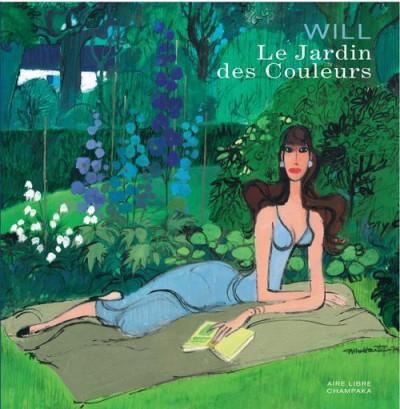 Couverture artbook will ; le jardin de couleurs