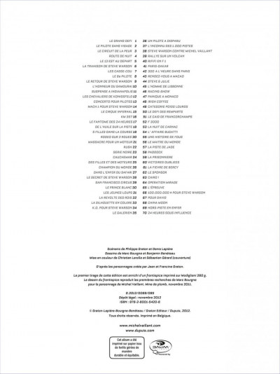 Page 1 Michel Vaillant - nouvelle saison tome 1 - au nom du fils