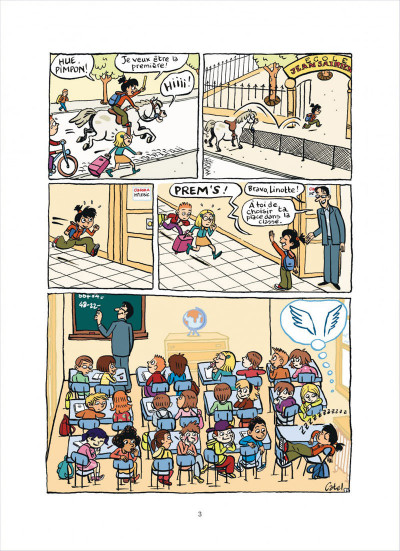 Page 3 top Linotte tome 1 - trop stylé !