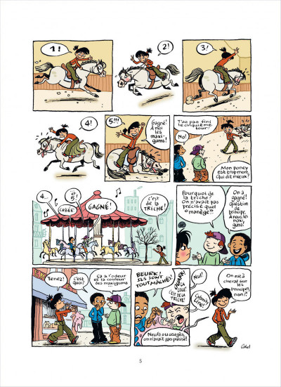 Page 5 top Linotte tome 1 - trop stylé !
