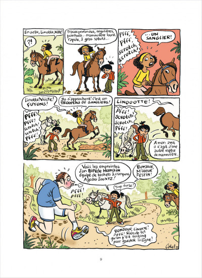 Page 9 top Linotte tome 1 - trop stylé !