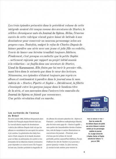 Page 5 Sophie - intégrale tome 2