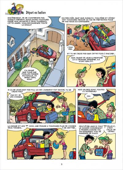 Page 2 Cédric tome 27 - c'est quand qu'on part ?