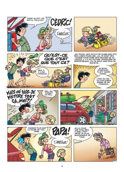 Page 4 Cédric tome 27 - c'est quand qu'on part ?