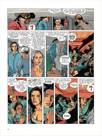 Page 8 l'Epervier tome 4 - captives a bord