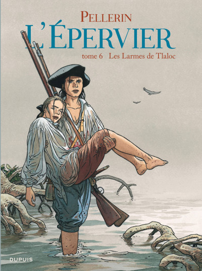 Couverture l'Epervier tome 6 - les larmes de Tlaloc