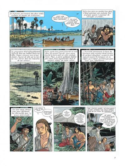 Page 7 l'Epervier tome 6 - les larmes de Tlaloc